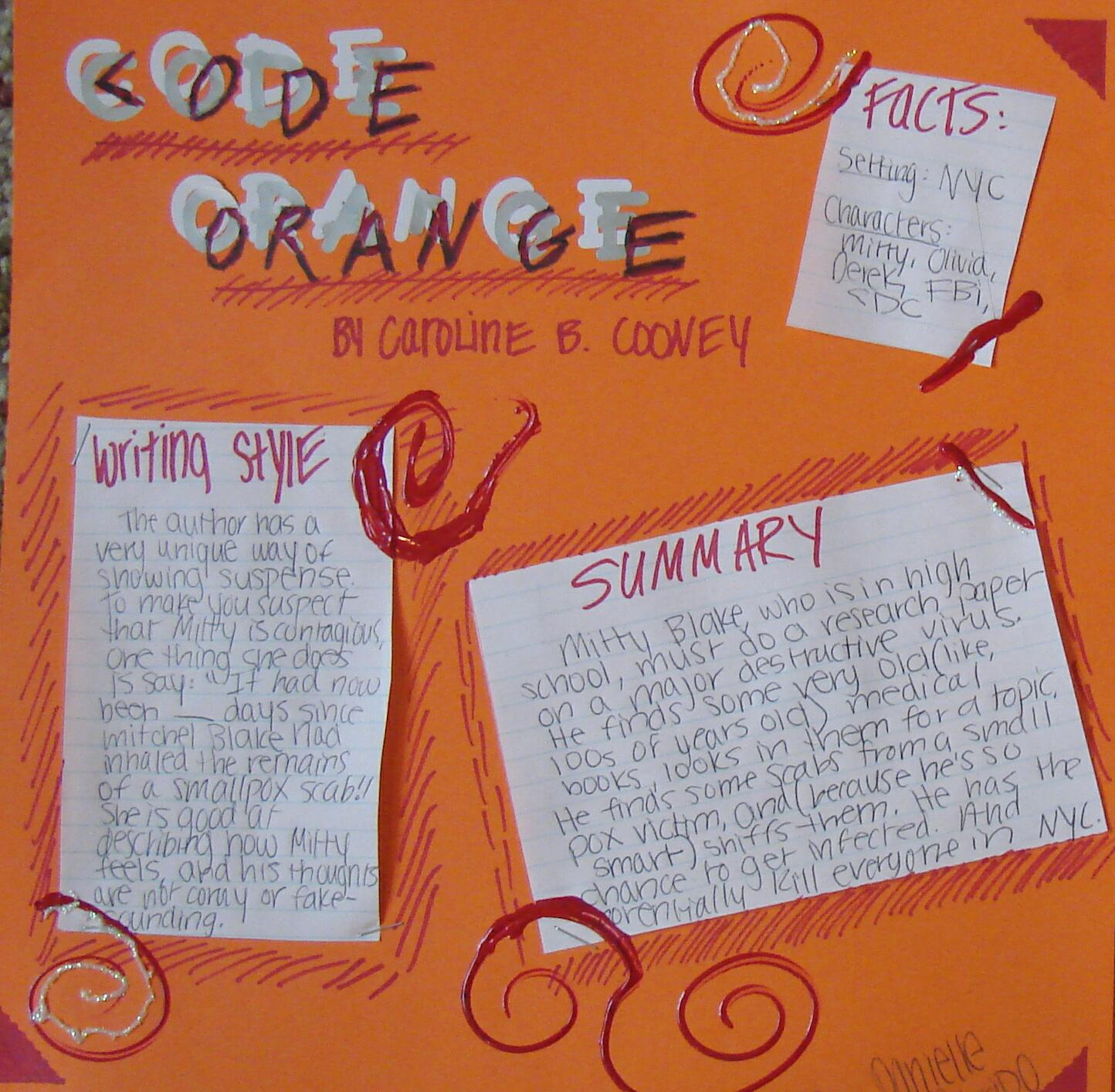 Reading hunt tribe 7th grader danielles four scrapbook pages for code orange fandeluxe Gallery