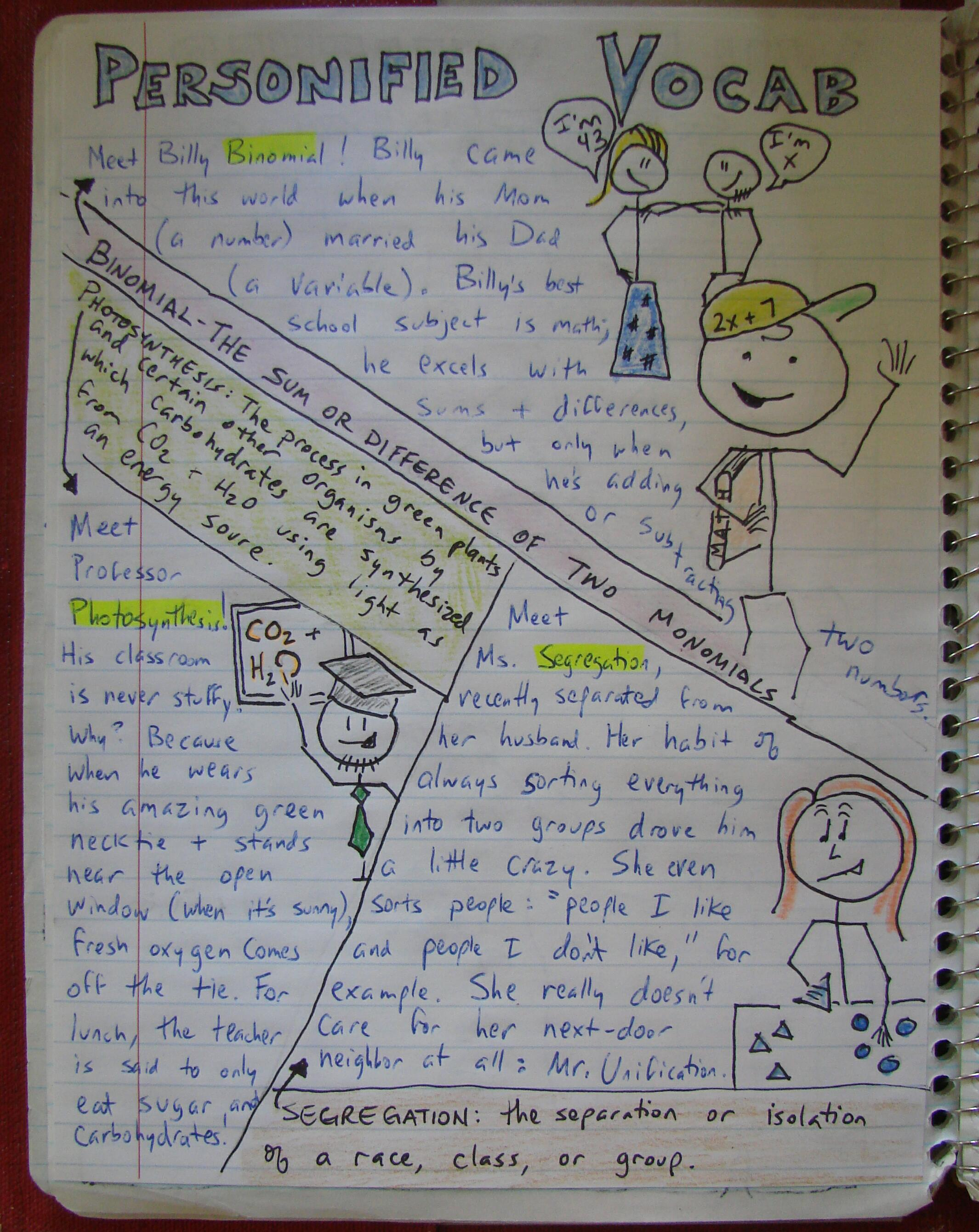 always write personifying vocabulary writing about new words click here to see an enlarged version of my language arts vocabulary personifications